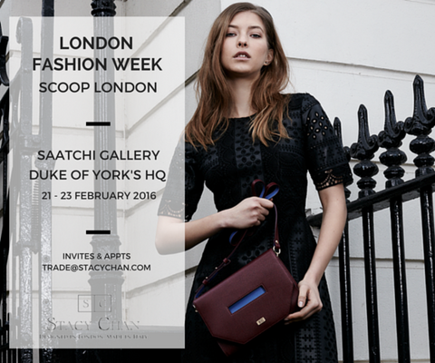 Burgundy Cross Body Bag London Fashion Week Invitation