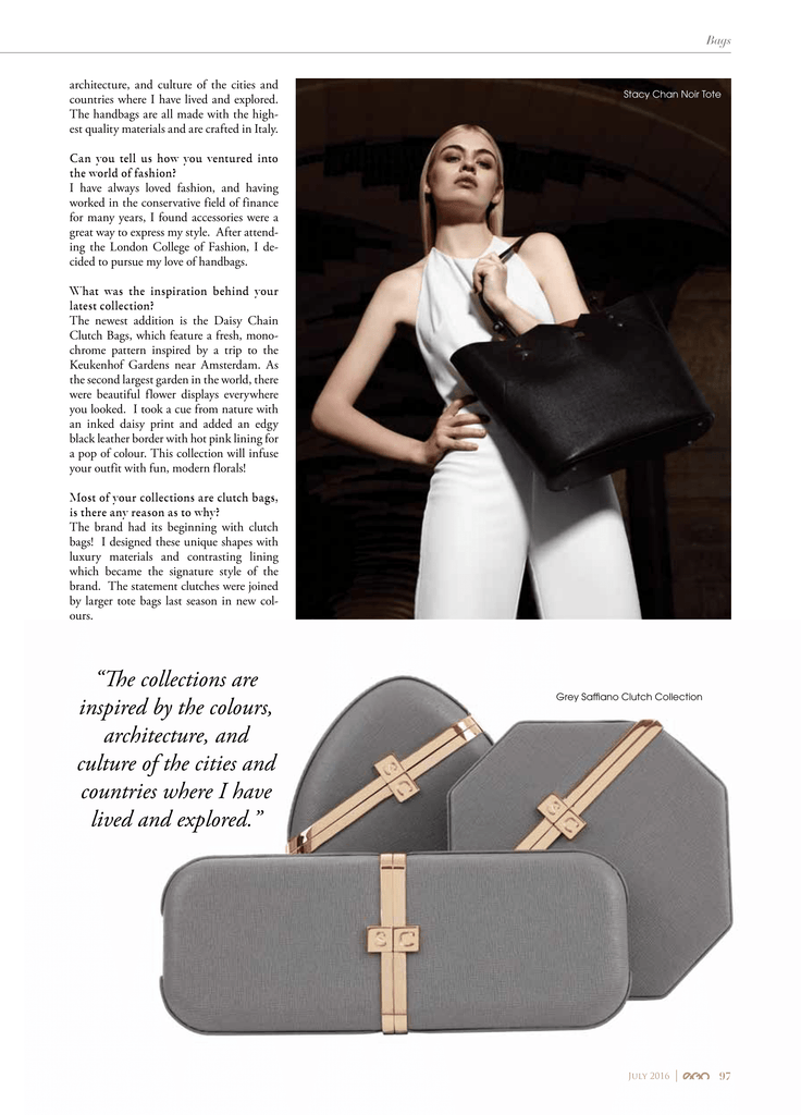 Black Leather Tote Bag Article in EGO Magazine Dubai