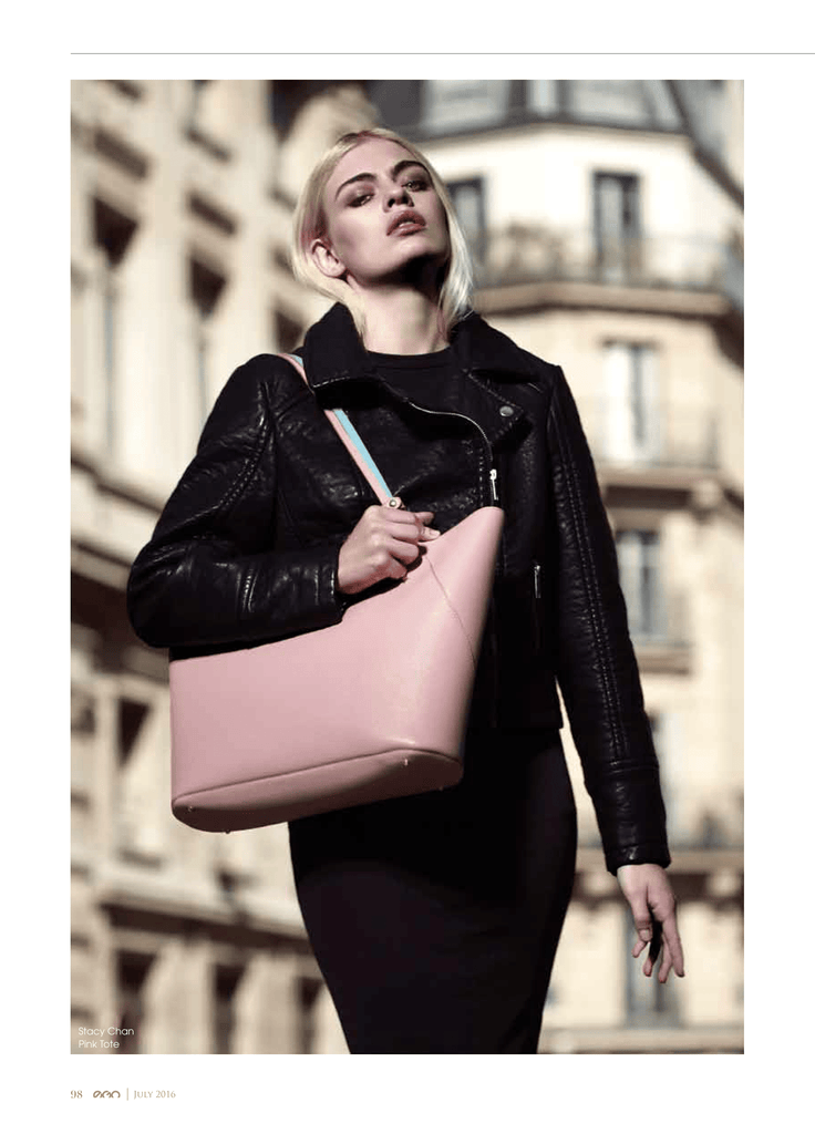 Pink Leather Tote Bag in EGO Magazine Dubai