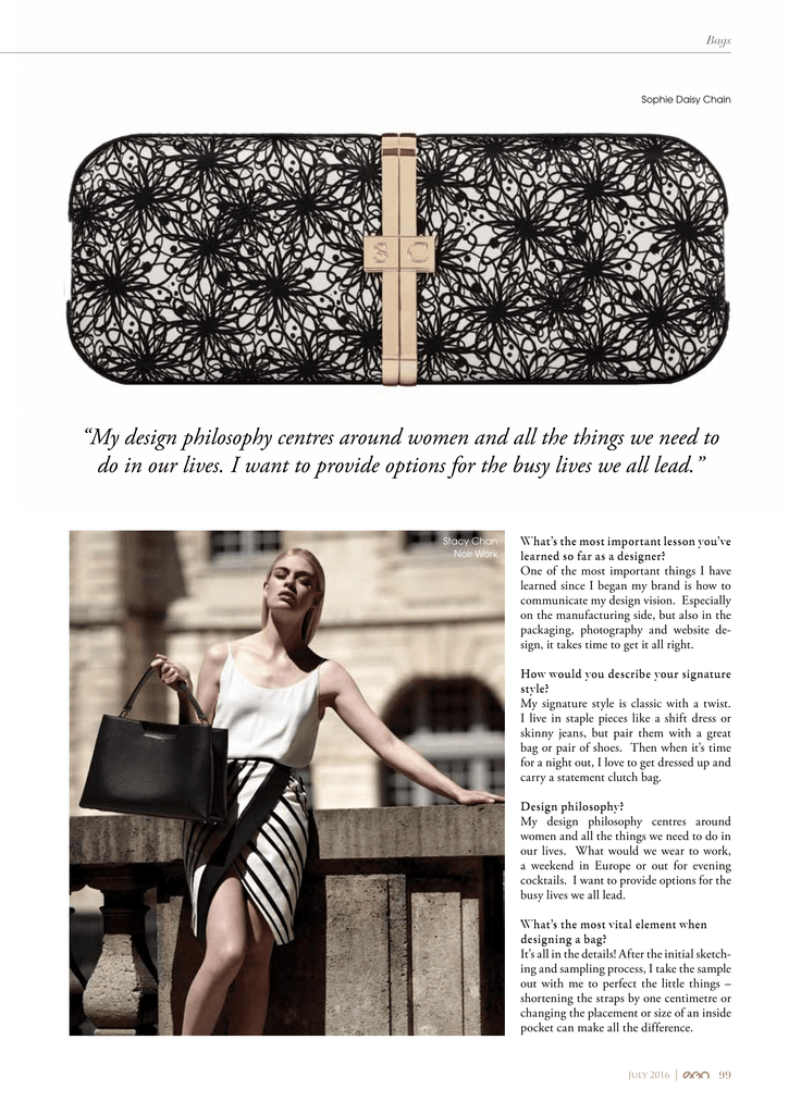Monochrome Baguette Clutch Bag in EGO Magazine Dubai