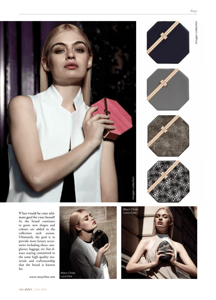 Octagonal Clutch Bag in EGO Magazine Dubai