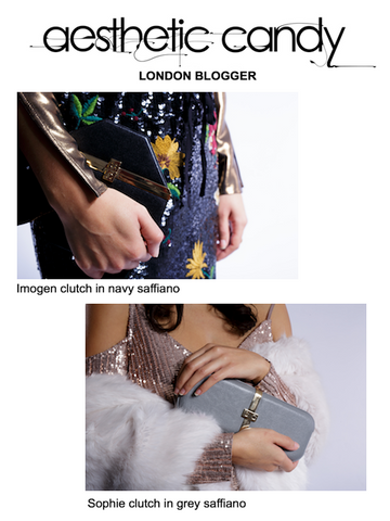 London Blogger with Unique Designer Clutch Bags by Stacy Chan