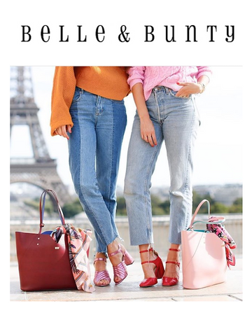 London Bloggers with Designer Leather Tote Bags in Paris by Stacy Chan