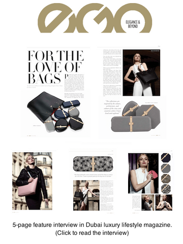 EGO Magazine Dubai Coverage of Designer Handbag Stacy Chan