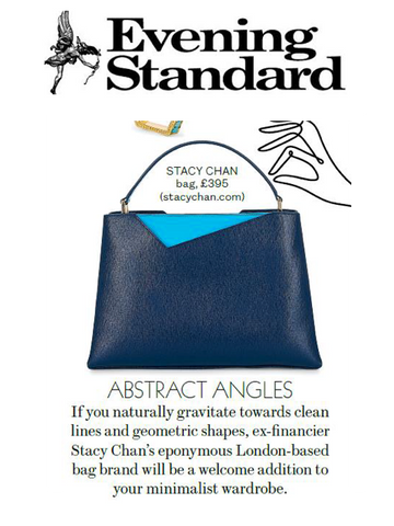 Evening Standard Midi Navy Tote Bag Designer Stacy Chan
