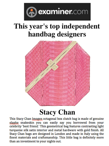 Examiner.com Stacy Chan Top Independent Handbag Designer