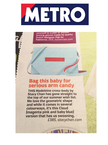 The Metro Light Blue Cross Body Bag - The Hot List