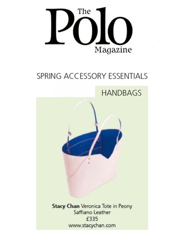 Polo Magazine Pink Tote Bag Designer Stacy Chan