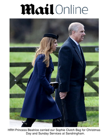 HRH Princess Beatrice with Sophie Clutch Bag