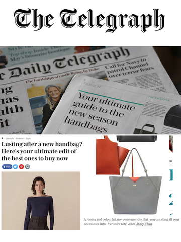 Telegraph Fashion Grey Leather Tote Bag