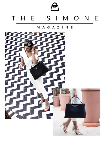 The Simone London Blogger with Amy Tote in Navy by Designer Stacy Chan