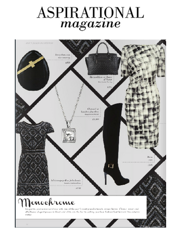 Aspirational Magazine Coverage of Stacy Chan Luna Clutch in Noir Snakeskin