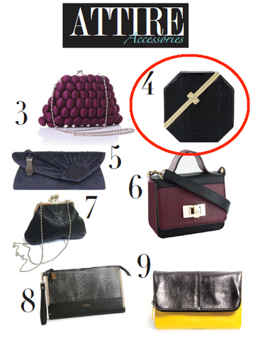Attire Accessories Magazine Coverage of Stacy Chan Clutch Bags