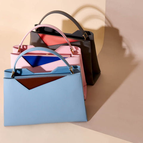 Midi Pastel Spring Leather Tote Bags - Designer Stacy Chan