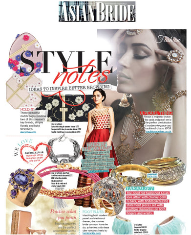 Asian Bride Magazine Coverage of Stacy Chan Clutch Bags