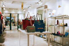 Leather luxury handbags pop up shop - designer Stacy Chan