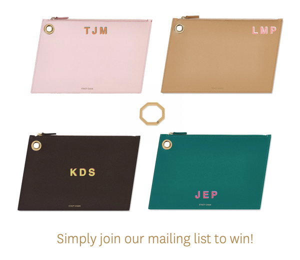 Sign Up to Win a Large Monogrammed Pouch