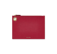 Medium Fuchsia Leather Pouch - Designer Stacy Chan