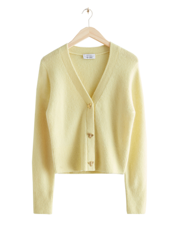 & Other Stories Yellow Bee Cardigan