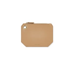 Small Beige Nude Leather Pouch - Designer Stacy Chan