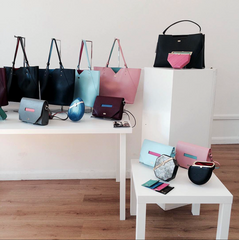 Designer Handbags in London Fashion Week Display