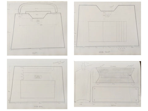 Technical Drawings of Stacy Chan Amy Tote Bag