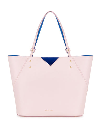 Pink Italian Leather Tote Bag Designer Stacy Chan