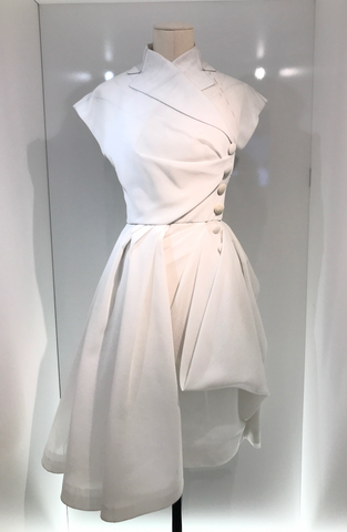 Christian Dior Exhibition White Dress Pattern