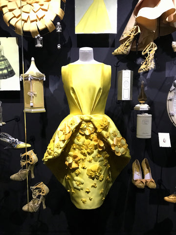 Christian Dior Exhibition Yellow Flower Dress