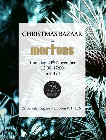 Mortons Private Members Club - Christmas Bazaar Invitation