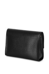Black Italian Leather Cross Body - Designer Stacy Chan