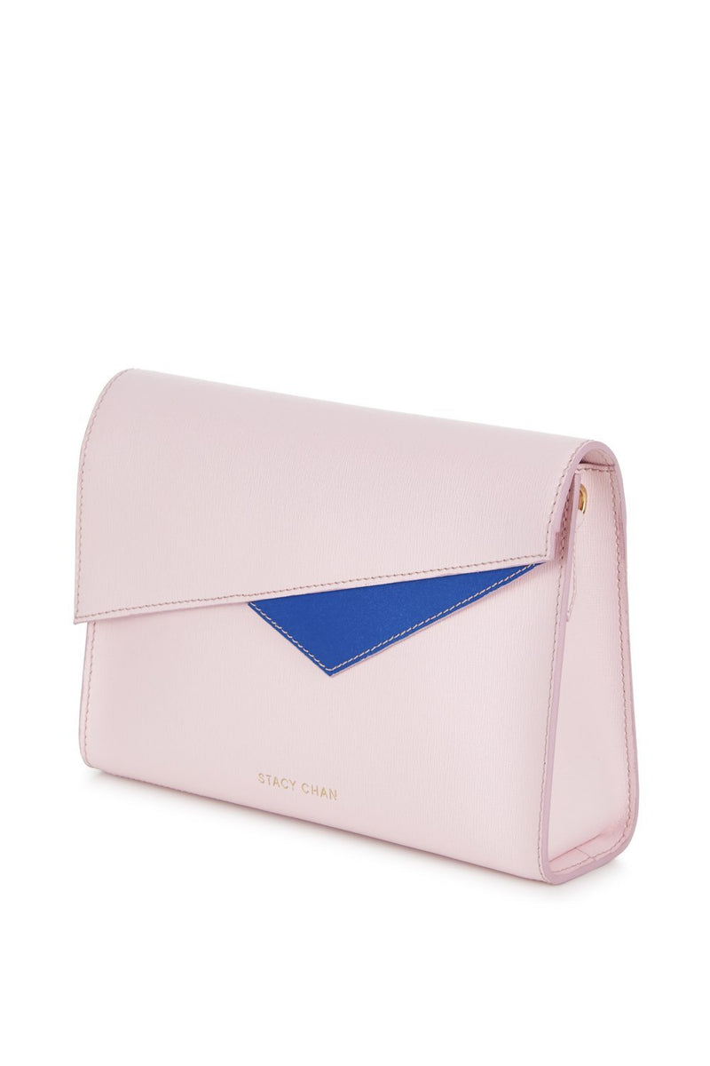 Pink Saffiano Leather Cross Body - Designer Stacy Chan