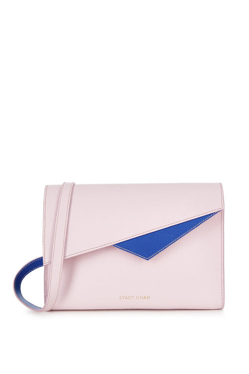 Alex Cross Body Bag in Peony Saffiano Leather - Stacy Chan Limited