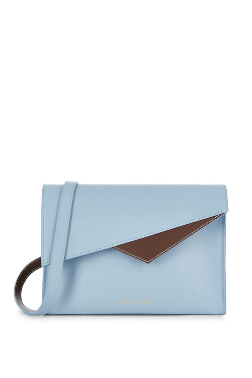 Alex Cross Body Bag in Powder Blue Saffiano Leather - Stacy Chan Limited