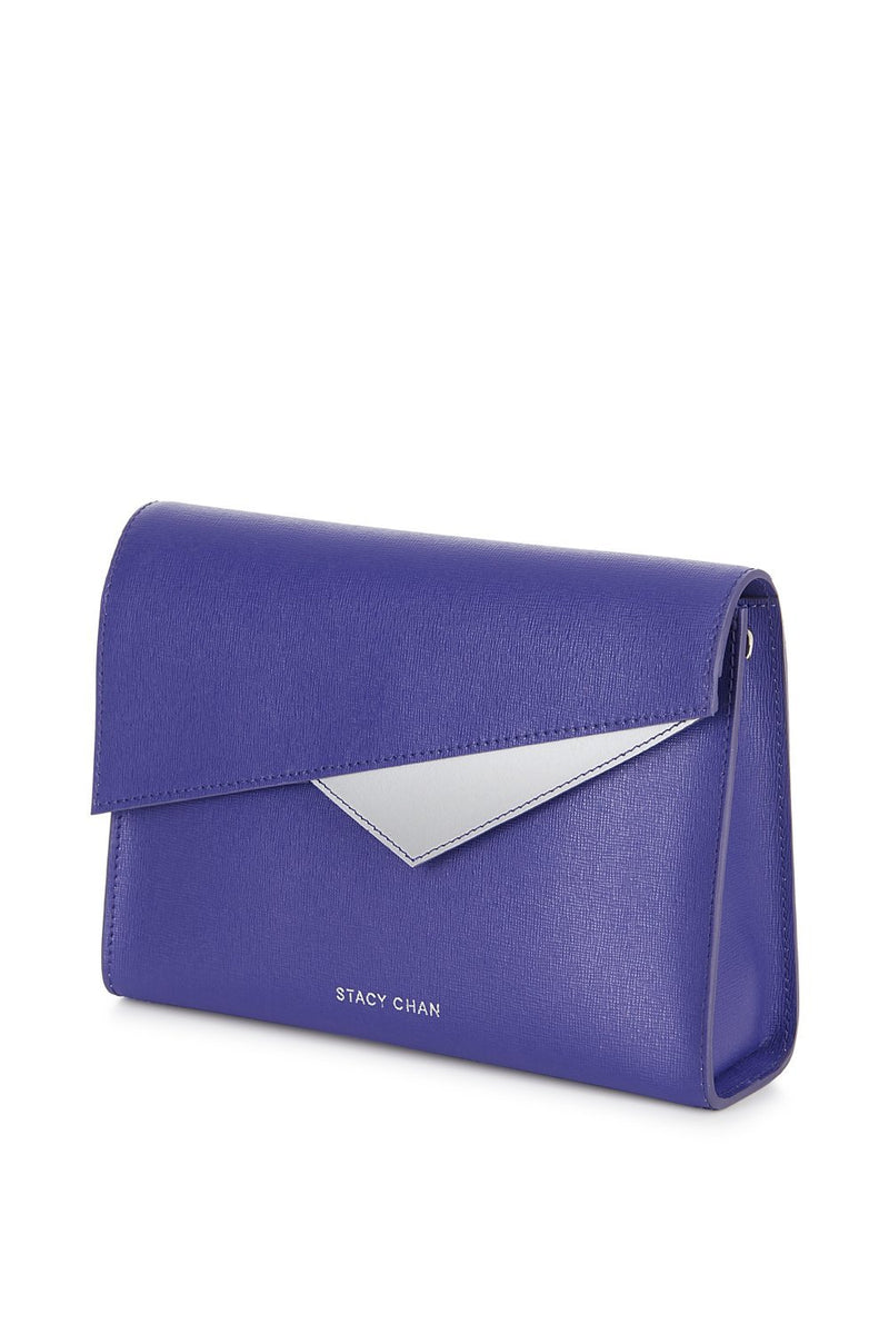 Violet Purple Leather Cross Body Bag - Designer Handbag Stacy Chan