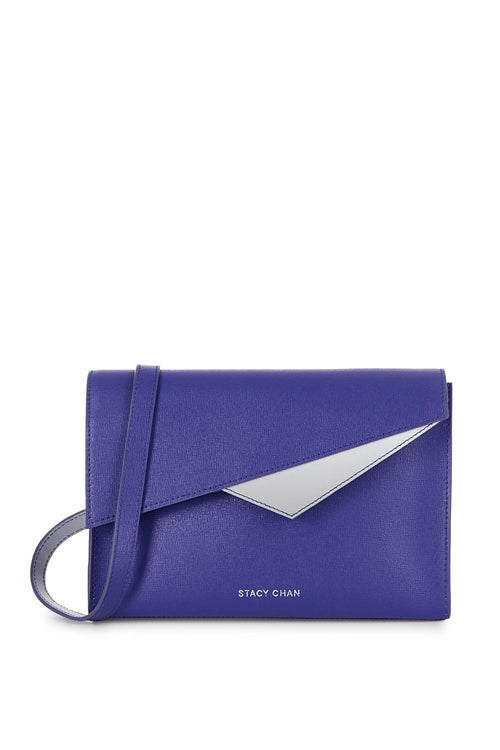 Alex Cross Body Bag in Violet Saffiano Leather - Stacy Chan Limited