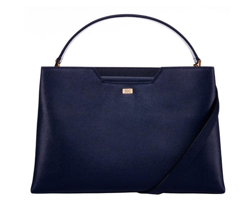 Amy Tote in Navy Saffiano Leather - Stacy Chan Limited