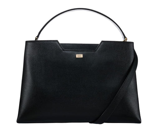 Amy Tote in Noir Saffiano Leather - Stacy Chan Limited