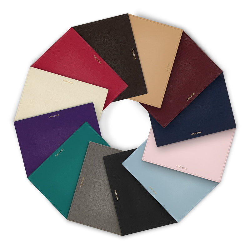 Italian Leather Medium Pouch Clutch Colours