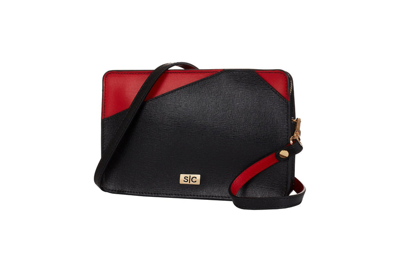 Black Saffiano Leather Mini Bag Handbag - Designer Stacy Chan