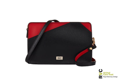 Black MiniBag Cross Body - Italian Leather - Designer Stacy Chan