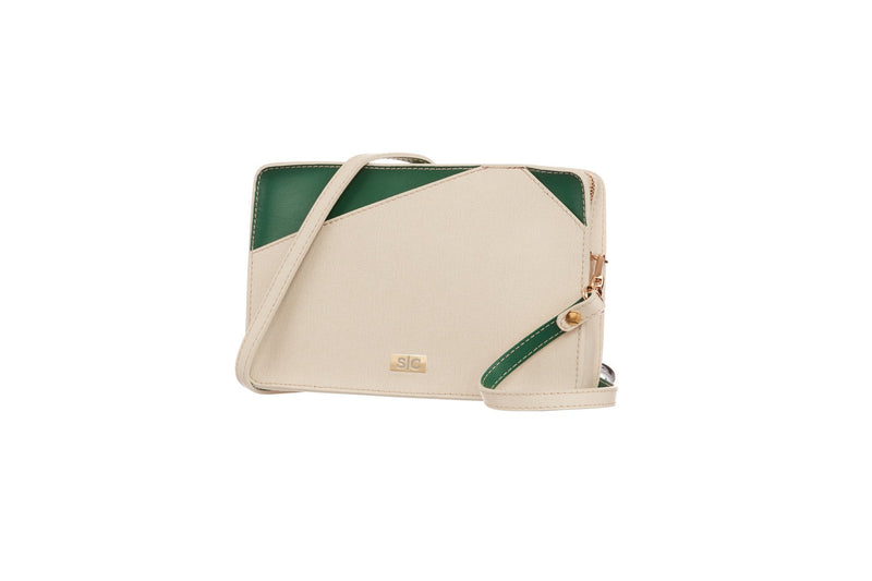 White Saffiano Leather Mini Bag Handbag - Designer Stacy Chan