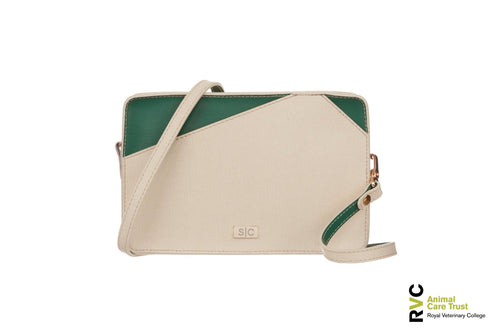 White Leather Mini Bag Handbag for Charity - Designer Stacy Chan
