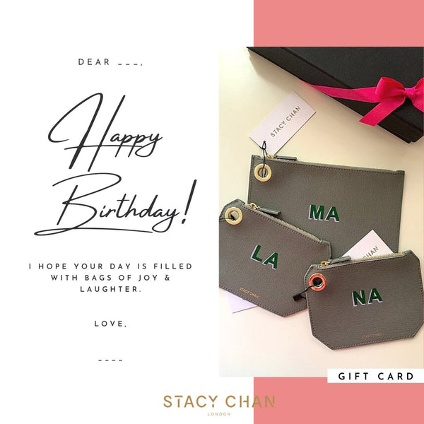 Gift Card for Small Italian Leather Monogrammed Pouch