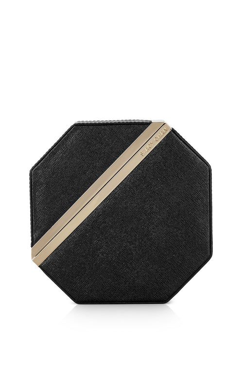 New Imogen Clutch Bag in Noir Saffiano Leather - Stacy Chan Limited