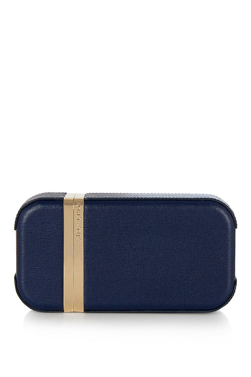 Unique Navy Leather Clutch Bag