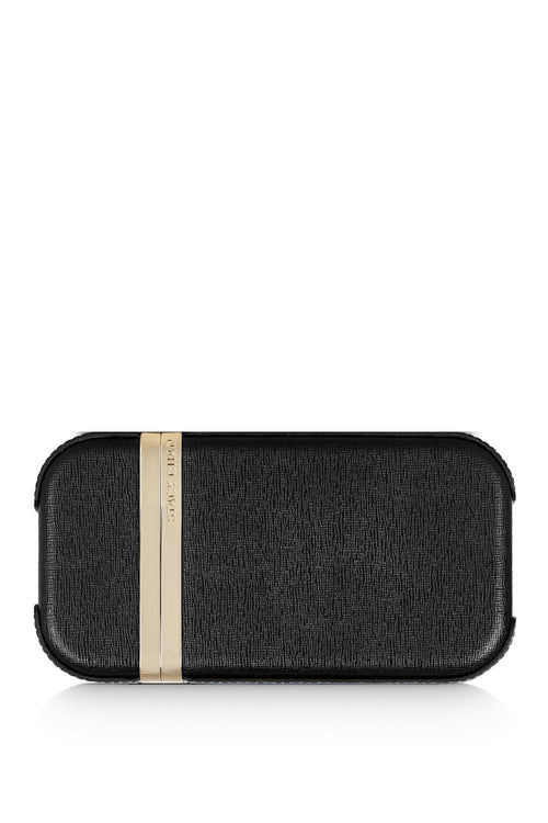 New Sophie Clutch Bag in Noir Saffiano Leather - Stacy Chan Limited