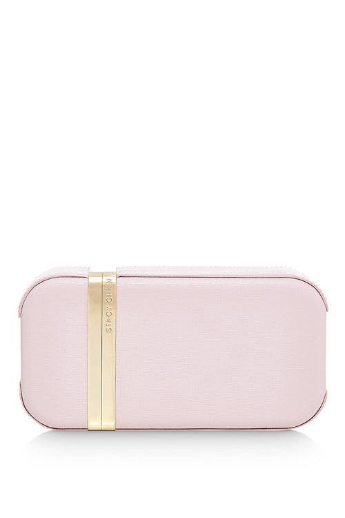 New Sophie Clutch Bag in Peony Saffiano Leather