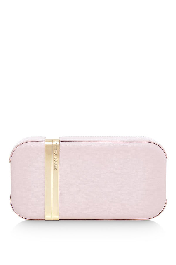 Sophie Clutch Bag | Peony Saffiano Leather