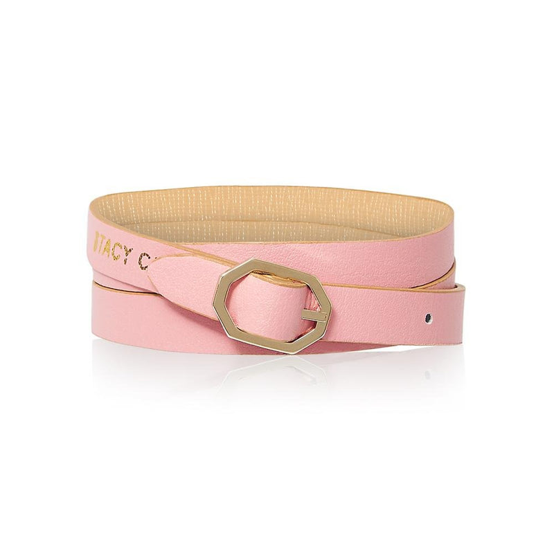 Beige Nude Leather Bracelet Reversible - Italian Leather